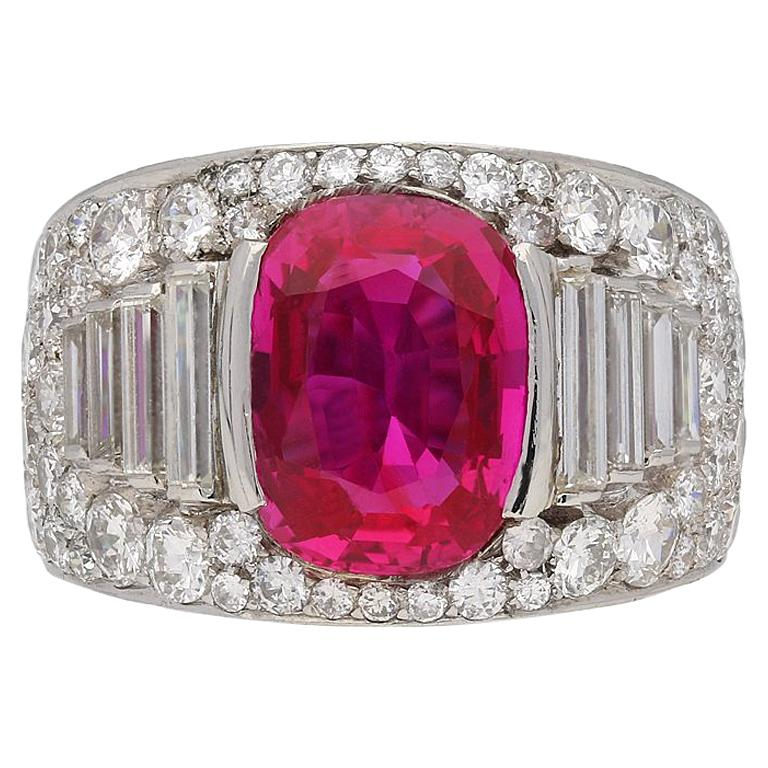 Bulgari Natural Unenhanced Burmese Ruby Diamond Ring