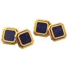 Classic Lapis Lazuli Gold Cufflinks