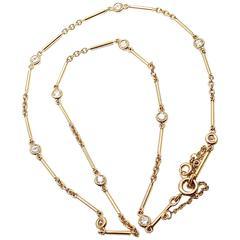 Mikimoto Five Strand Pearl Diamond White Gold Choker