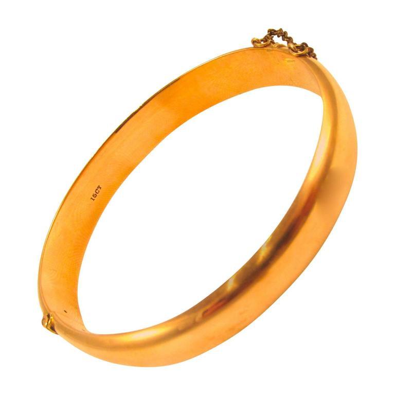 Bangle Bracelet in 15 Karat Gold