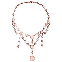 Antique Moonstone Silver Necklace