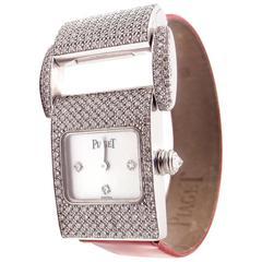 Piaget Miss Protocole Diamond 8 Straps White Gold Ladies Wristwatch