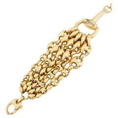Gucci Marina Link Horsebit Gold Bracelet