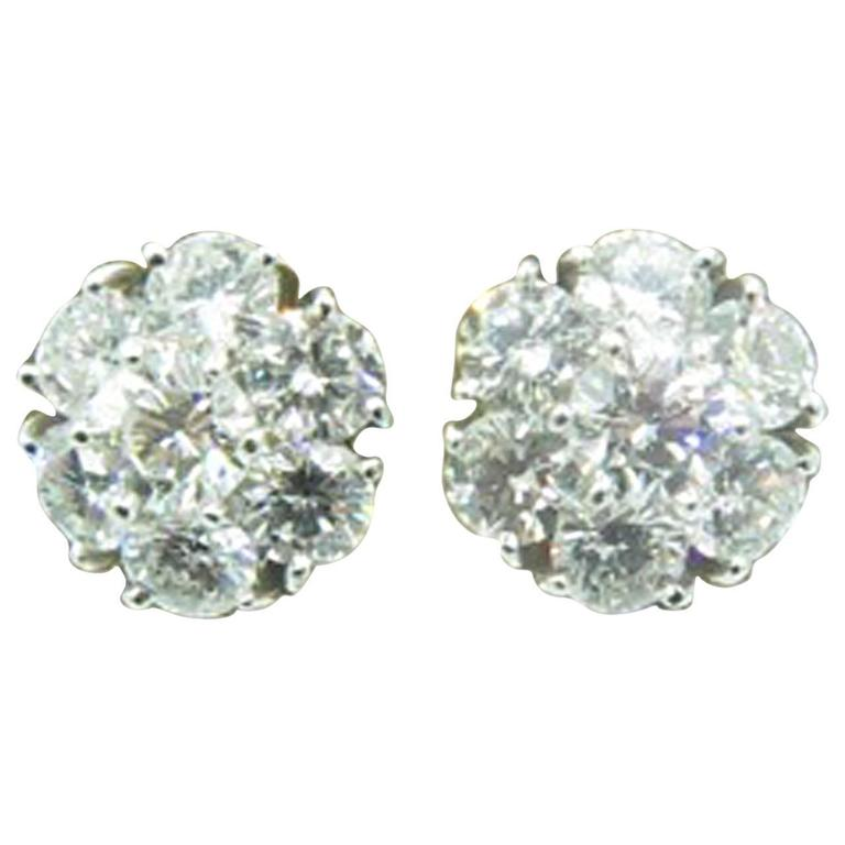 Van Cleef Arpels Diamond Fleurette Earrings