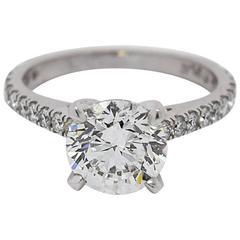 2 Carat Round Diamond Platinum Engagement Ring