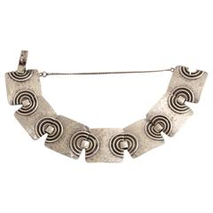 Fernand Grange French Art Deco Sterling Silver Bracelet
