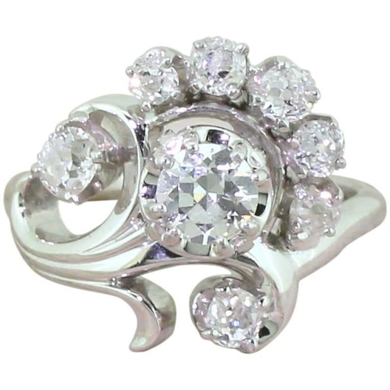 jaybel jewelry jabel 1 03 carat cut flower ring at 1stdibs 2810