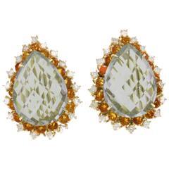Luise Ligth Green Amethyst Drop Earrings