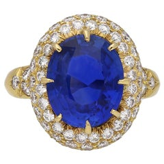 Van Cleef & Arpels Natural Burmese Sapphire and Diamond Ring