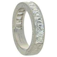 Hancocks Stunning 2.75 carats French Cut diamond and Platinum Eternity Ring