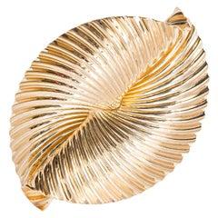 Tiffany & Co. Swirl Ribbon Yellow Gold Brooch