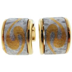 Artistic Bondanza Gold Platinum Earrings