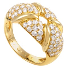 Chaumet Yellow Gold Diamond Pave Ring
