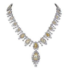 Magnificent Yellow Diamond Necklace