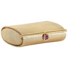 Verdura Ruby Gold Vanity Pill Box