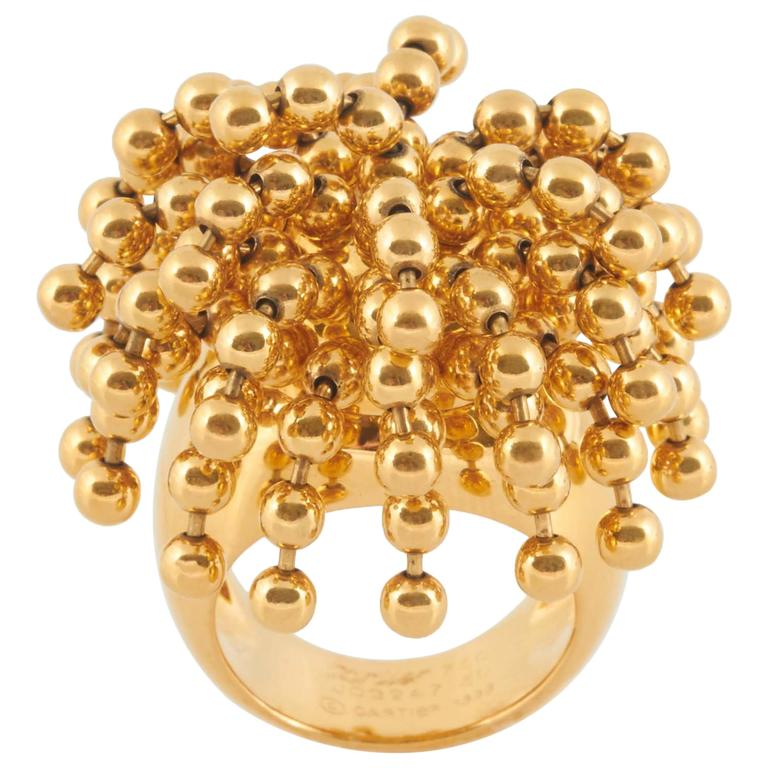 Nouvelle Vague Perruque Ring by CARTIER