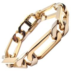 Van Cleef &Arpels Heavy Link Yellow  White Gold Bracelet
