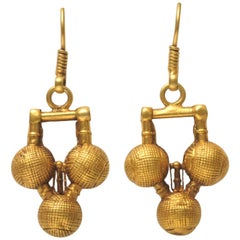 Indian 22 Karat Gold Drop Earrings