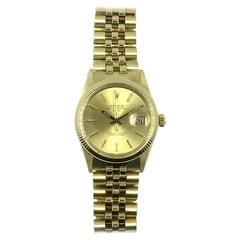 Rolex Vintage Oyster Perpetual Date Watch 1970's 14K Yellow Gold