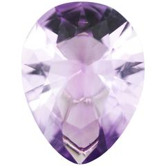 Paolo Costagli, Antique Pear Shaped Amethyst Single Pendant in 18k white gold