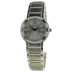 Ladies Piaget Polo 18k White Gold Watch W/ Diamonds Ref G0A36233 Retails $66,000