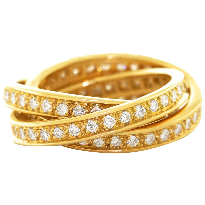cartier trinity ring black price