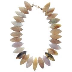 Multi-Colored Druzy Quartz Necklace