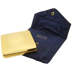 BUCCELLATI Vintage Hand made makeup powder case in 18 karat yellow gold,