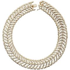 Cartier Paris Vintage Diamond in Gold Choker Necklace