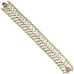 Cartier Paris Vintage Diamond in Gold Wide Bracelet