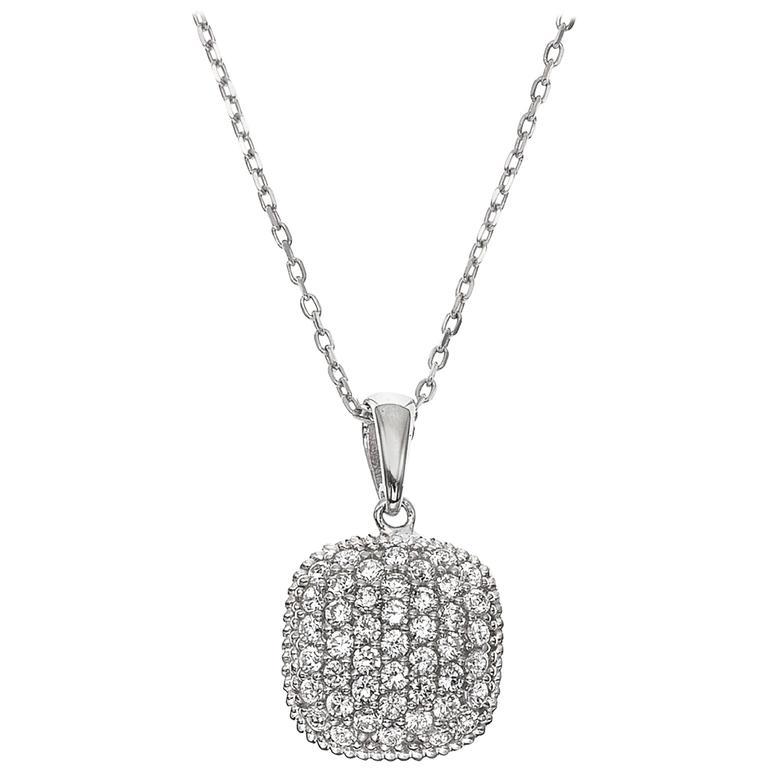 Cushion shape micro pave diamond pendant at 1stdibs cushion shape micro pave diamond pendant for sale aloadofball Images