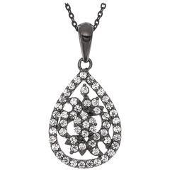 Delicate Tear Drop Diamond Pendant