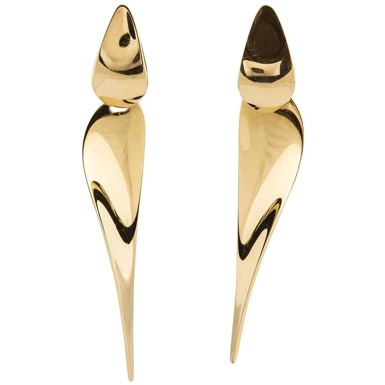 George Jensen gold earrings  1