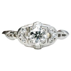 1920s Diamond Engagement Ring, GIA Certified