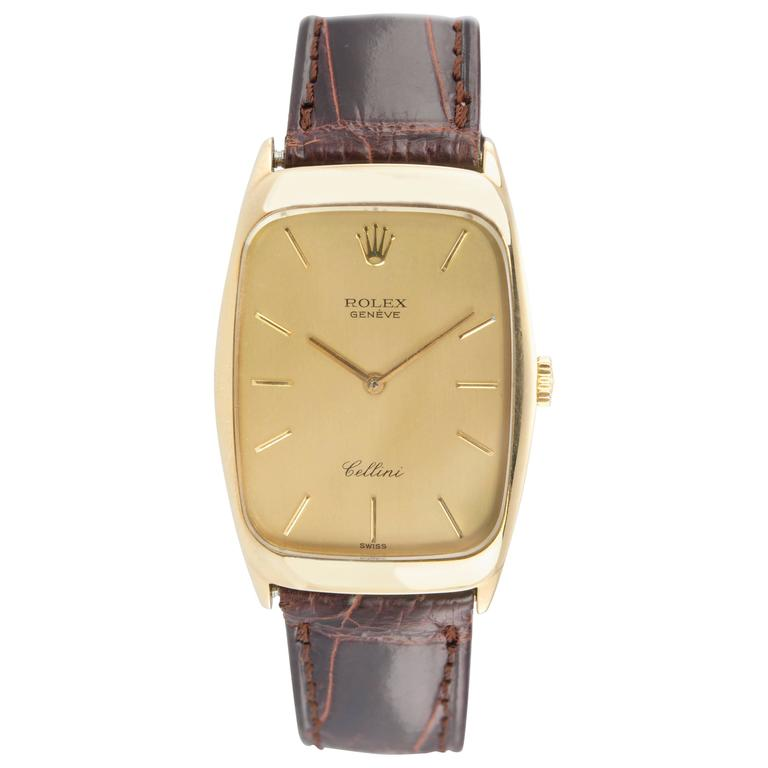 Rolex Cellini Gold Dress Wristwatch, Ref 4136
