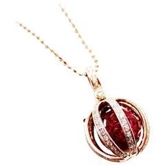 Chronoshere Ruby Pendant and Diamond