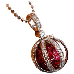 Chronoshere Ruby Pendant and Diamond