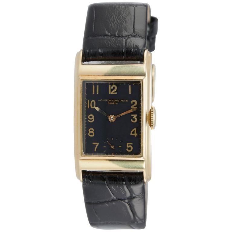Vacheron & Constantin 18K Gold Dress Model Wristwatch Circa 1940s