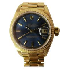 Rolex, Pre-owned 18K Yellow Gold Rolex Oyster Perpetual Datejust Bracelet Watch