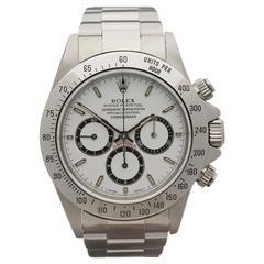 Rolex Stainless Daytona Cosmograph Chronograph Zenith Inverted 6 Wristwatch