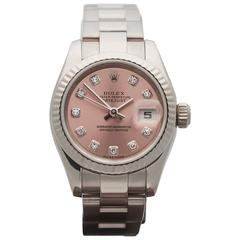 Rolex Ladies White Gold Datejust Original Diamond Dial Automatic Wristwatch