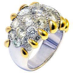 Marion Jeantet 4 Carat Fancy Diamonds white gold Ring