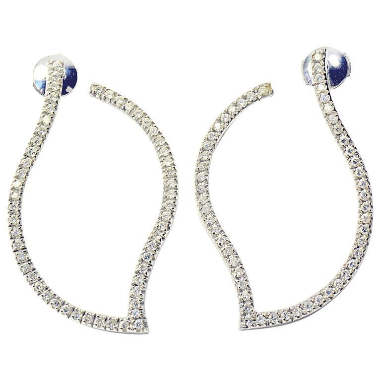 Marion Jeantet Diamonds White Gold Hoop Earrings