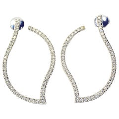 Marion Jeantet Diamonds White Gold Hoop Earrings