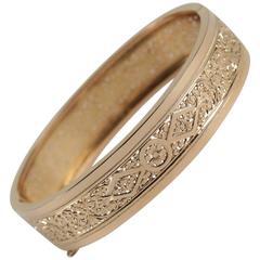 French 19th Century Gold Bangle Bracelet