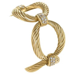 Boucheron Paris 1960s Diamond and Gold Link Bracelet