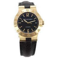 Bulgari yellow Gold Diagono automatic Wristwatch Ref LCV35G