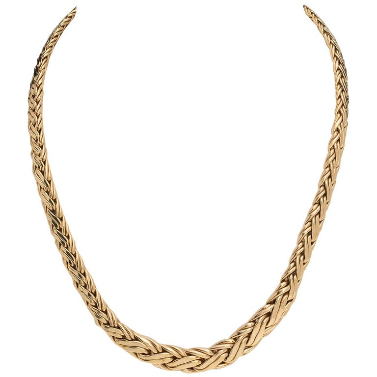 Tiffany & Co. Woven Gold Necklace