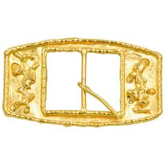Jean Mahie 22 Karat Yellow Gold Belt Buckle