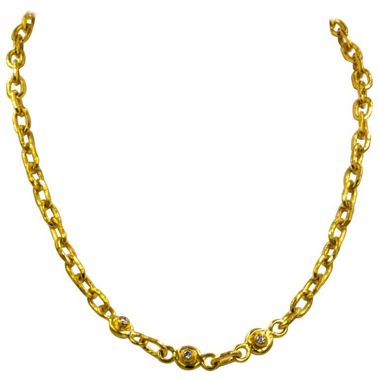 Jean Mahie Diamond and Sapphire Small Cadene Necklace